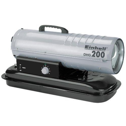 Einhell Diesel-Heißluftgenerator DHG 200 (230V, Heizleistung 20 kW, 19 l Tank, elektrische Zündung, Thermostat, Tankanzeige, Überhitzungsschutz)
