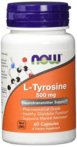 Now Foods L-Tyrosine 500mg Standard, 60 Kapseln