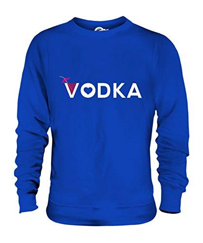 Candymix Liebe Für Wodka Unisex Herren Damen Sweatshirt, Größe Large, Farbe Königsblau