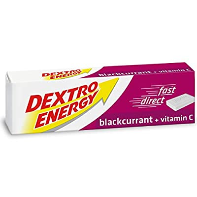 Dextro Energy Blackcurrant Glucose Tablets with Vitamin C, 47 g, 24 Packs, Energy Tablets, for a Quick Burst of Glucose