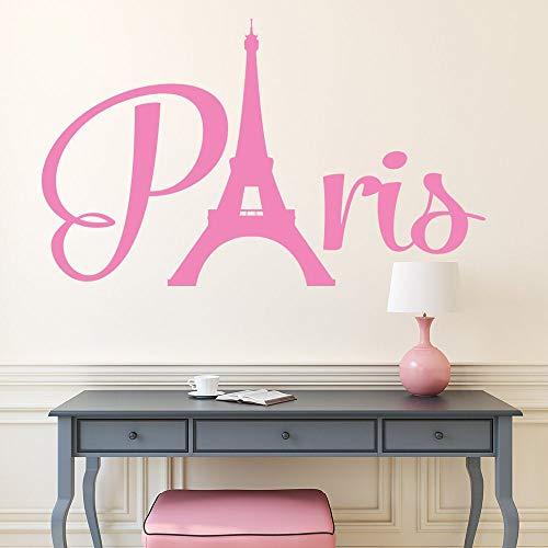 Paris Eiffelturm PVC Wandtattoo Paris Thema Schlafzimmer Dekor Eiffelturm Wandkunst Paris Skyline Silhouette Mädchen Zimmer Dekor
