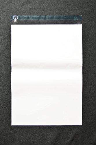 印刷透明封筒 角1 【6,000枚】 OPP 50μ(0.05mm) 表:白ベタ 切手/筆記可 静電気防止処理テープ付き 折線付き 横270×縦382+フタ36mm印刷可