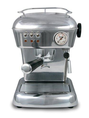 Ascaso DR.118 Dream 16-Bar-Pump Espresso Machine, Polished Aluminum