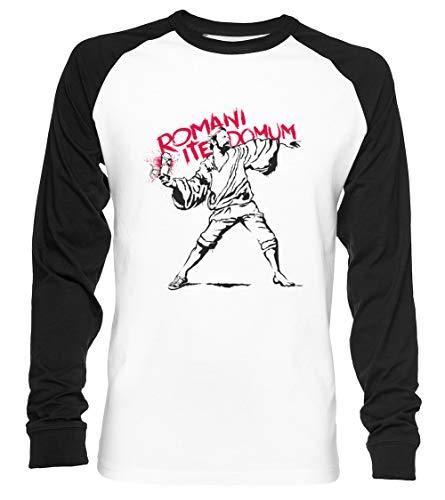 Romani ITE Domum Unisex Camiseta De Béisbol Manga Larga Hombre Mujer Blanca Negra