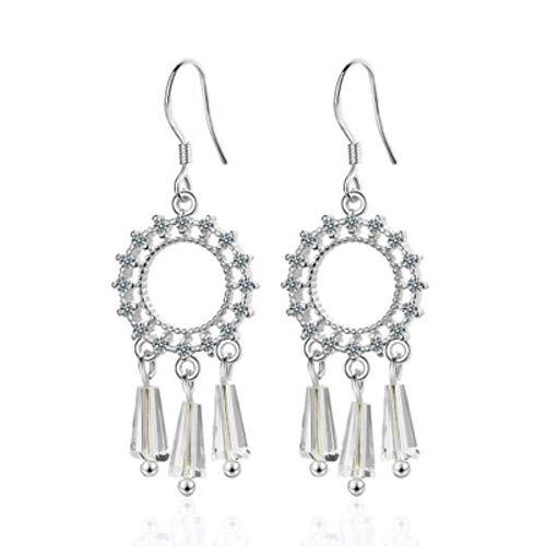 ZHENAO Drop Earrings Women Women Hook Earrings Dream Catcher Dreamcatcher Dangle Elegant Girls Earring Tassel Jewelry Gifts 1 Pair Gold Color Retro/Silver Color