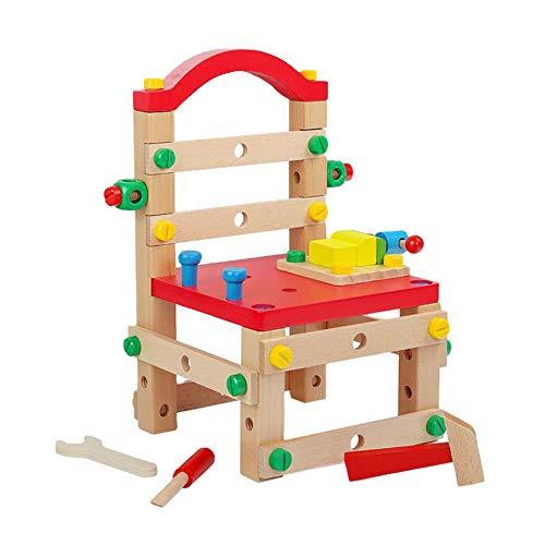 MYRCLMY Enfants Construction Toy Workbench pour Enfants en Bas Âge, Assemblez Président Jouets Outil Enfants Banc Jeu De Construction avec des Outils Et Perceuse, Les Outils Enfants Toy Shop