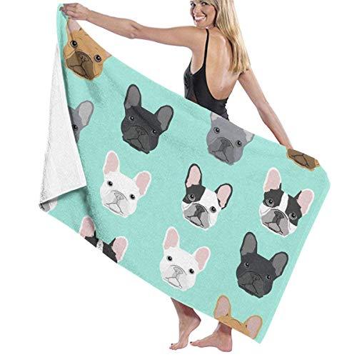 Axige888 Microfiber Travel Towel,Camping Towel, Gym Towel, Sports Towel, Swimming Towel - French Bulldog Sweet Dog Puppy Puppies Dog Print
