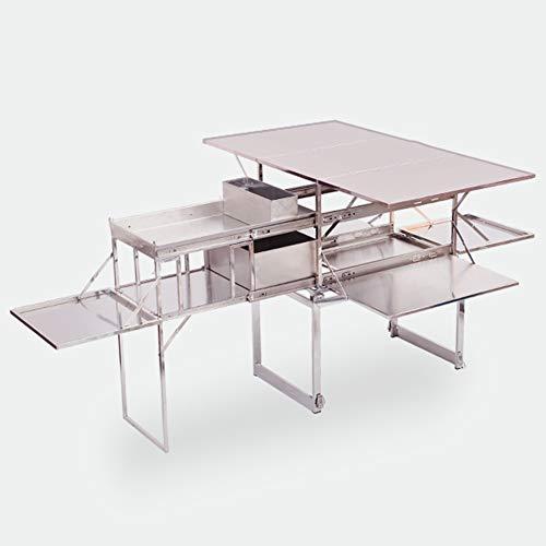 Cocina De Camping, Quick Kitchen Plus Mueble De Cocina Plegable De Camping, Cocina De Camping Todo En Uno Portátil para Viajes para Picnic Al Aire Libre