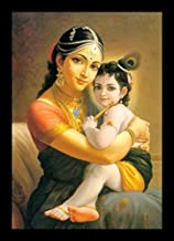 PAF written in a Frame Lord Little Krishna Painting with Frame Radha KRISHANA Wall Painting with Photo Frame for Wall