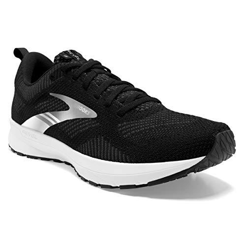 Brooks Revel 5, Zapatillas para Correr Mujer, Black/Metallic/White, 38.5 EU