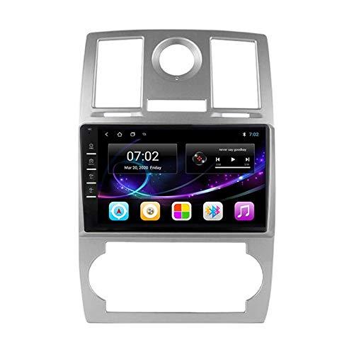 Car Stereo Android 10.0 Radio para Chrysler Aspen 300C 2004-2011 Navegación GPS Unidad Principal de 9 Pulgadas Pantalla táctil HD Reproductor Multimedia MP5 Video con WiFi DSP SWC Mirrorlink