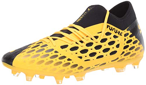 PUMA Men's Future 5.3 Netfit Firm Artificial Ground Soccer-Shoe, Ultra Yellowpuma Black, 9 M US