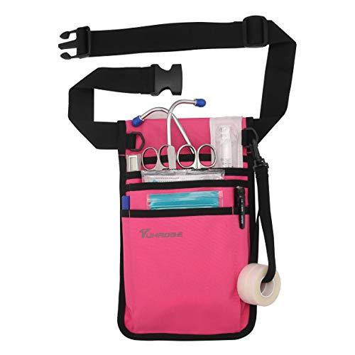 Nurse Storage Bag Practical Waist Bag Nurse Pocket Bag belt organizer pouch. (RoseRed)