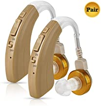 Digital Hearing Amplifier Pair - Behind The Ear Left & Right BTE Personal Sound Hearing Amplifier by MEDca