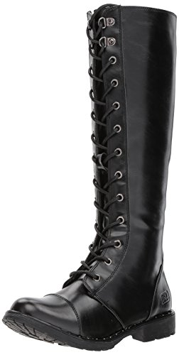 Dirty Laundry by Chinese Laundry Women's Roset Combat Boot, Black Smooth, 9.5 M US