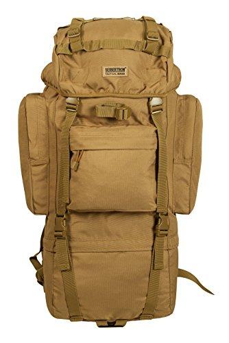 Seibertron klassisch Serie Wache 65L Innenrahmen Packung Wasserabweisend Handliche Reiserucksack (Khaki)