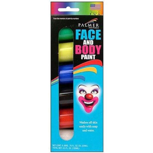 Palmer 6-Jar Face and Body Paint Set (189934)