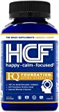HCF Happy, Calm & Focused - Brain Focus, Attention, Concentration & Mood Supplement (90 Count) - FQ Foundation Amino Acids, Vitamins & Minerals - 100% No Herbal Stimulants - Non-GMO Project Verified