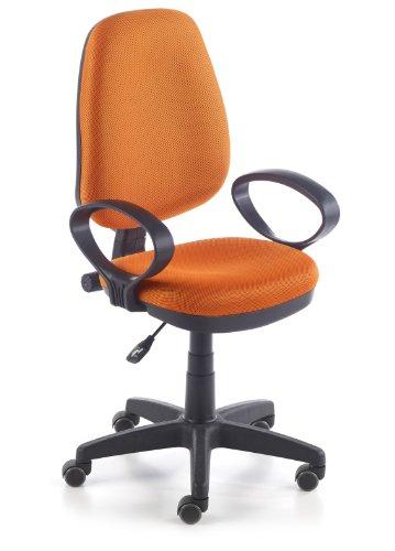 duehome Silla de Oficina Silla Escritorio tapizado 3D Color Naranja