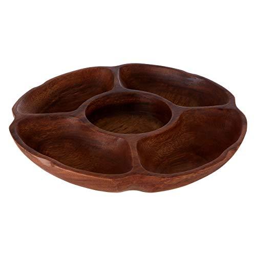 Kora serveringsskål, 5 delar, akacziträ