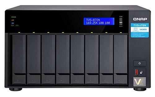 QNAP TVS-872N-i3-8G 8 Bay NAS a transcodifica hardware 4K ad alte prestazioni con Intel Core i3 e una porta 5 GbE