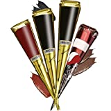 Janolia Kit de Tatuaje, 4 pcs Conos y 3 Colores, Color Aleatorio