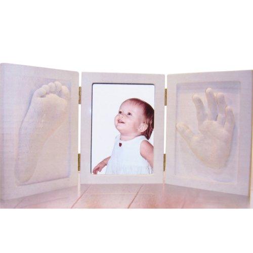 3D baby Gipsabdruck Handabdruck Fußabdruck Gips-Set Bilderrahmen Geburt Geschenk