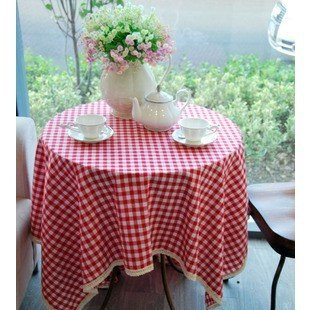 GFYWZ Einfach rot-weiß Karierten Tischdecke, 60 * 60