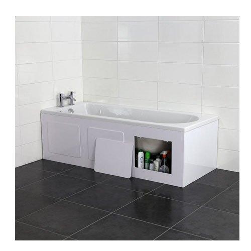 Price comparison product image Croydex Height Adjustable 50-57.5 cm Storage Bath Panel,  169 cm,  Gloss White
