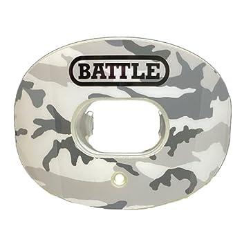 Battle Sports Camo Chrome Oxygen Football Mouthguard  White