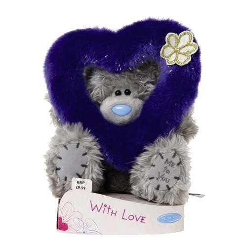 Me to You 6-inch Tall Tatty Teddy Bear with Fluffy Heart (Grey)