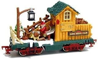 New Bright Holiday Express Log Mill Wood Car