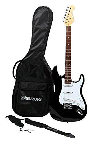 Suzuki sst1sb guitarra tipo Stratocaster, negro