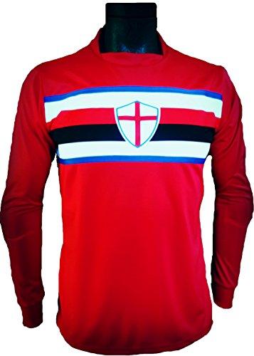 Footex Maglia Portiere Calcio Calcetto MOD. Tipo Sampdoria Rossa