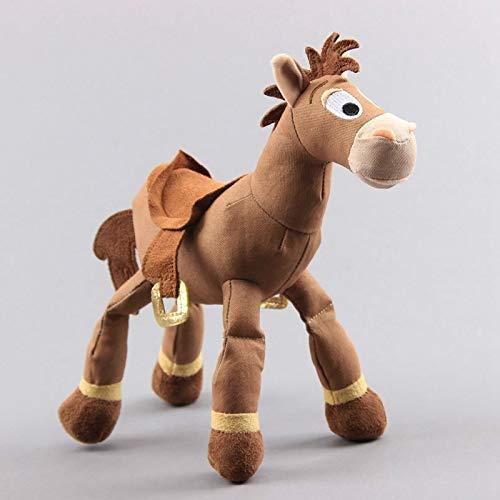 DINGX Juguetes suaves de 25cm de dibujos animados de la historia de los animales de peluche Bullseye Caballo muñeca cumpleaños niña bebé niños regalo niños juguetes de peluche chuangze