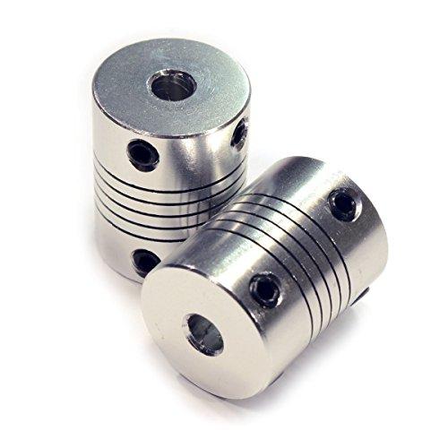 2 STÜCKE Koppler Flexible Kupplungen 5mm bis 8mm NEMA 17 Welle für RepRap 3D Drucker oder CNC Maschine Eewolf