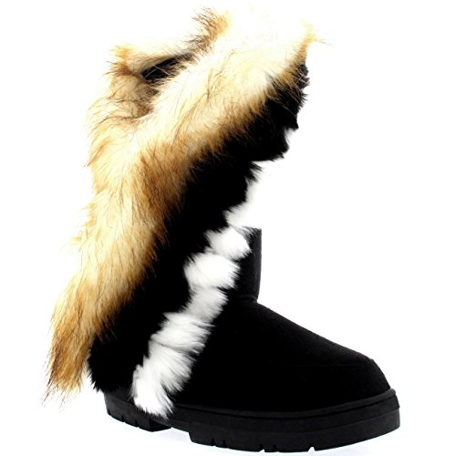 Holly Womens Tall Tassel Winter Cold Weather Snow Rain Boots - 8 - BLA39 EA0397