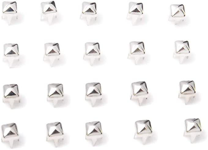 Rivets Studs Spikes 100pcs Silver Studs Craft Supplies Leather Craft Accessories 3mm 5mm 7mm 9mm 11mm 14mm Metal Studs