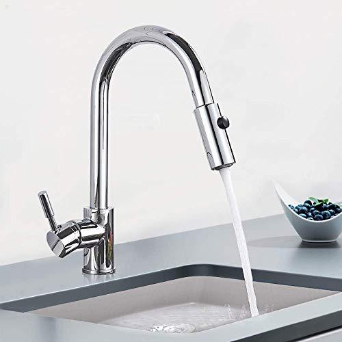 YBQ. Küchenmischbatterie, Sprühstrahl-Regenschalter-Auslauf Nach unten montierter Warm- und Kaltwasserhahn