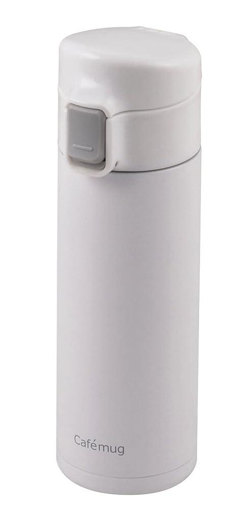 国民明快落花生パール金属 水筒 350ml 直飲み ステンレス 軽量 ワンタッチ マグ ホワイト カフェマグライト HB-1927