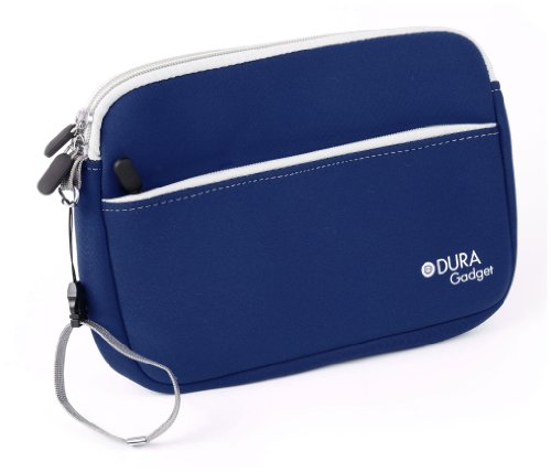 DURAGADGET Funda Azul para Tablet Clementoni Clempad Plus - con Asa Y Bolsillo Externo - Hecha En Neopreno
