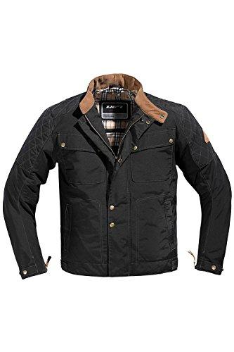 Difi GLASGOW AEROTEX® Motorradjacke Retro Farbe schwarz, Größe XL