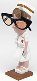 funny nurse cartoon figurine eyeglasses holder