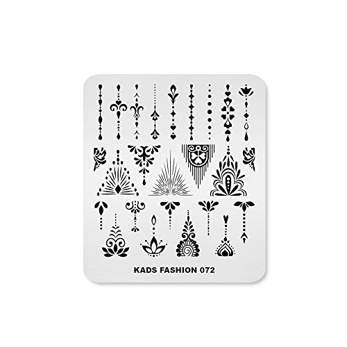 Alexnailart Nail Stempel platten Stempelschablonen Metallplatten Vorlagen Nageldesign Maniküre Druck Werkzeug (FA072)