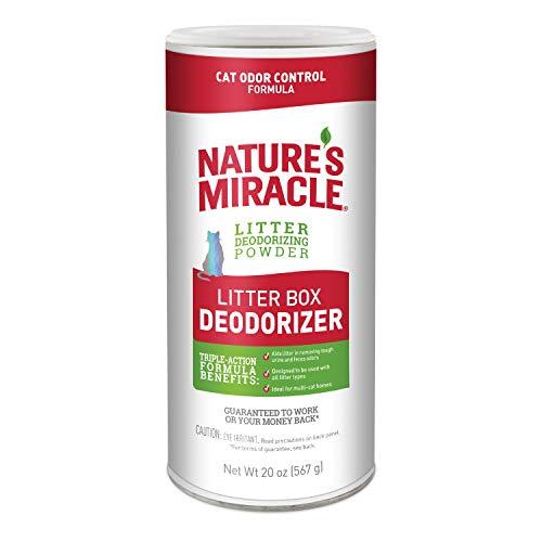 Nature's Miracle Litter Box Deodorizer, 20 oz, Litter Deodorizing Powder, Cat Odor Control Formula