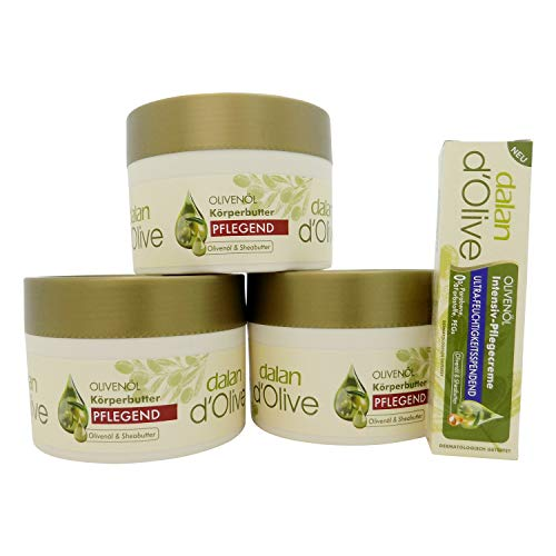 dalan d' Olive Körperbutter 3 x 250 ml + Intensiv Creme 20 ml