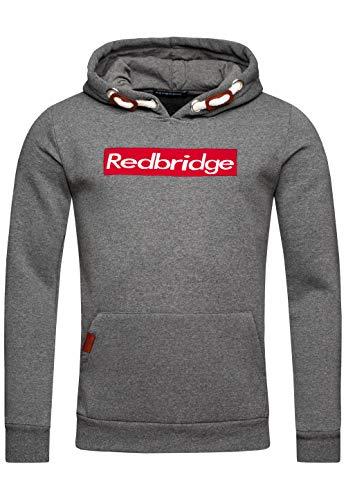 Redbridge Herren Kapuzenpullover Dicke Kordel Sweatshirt Hoodie Casual Pullover (XL, Anthrazit)