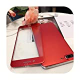 XR 8plus Metallic Red Titanium Alloy Front Screen Tempered Glass Protector de pantalla para iPhone XS Max 6s 7plus