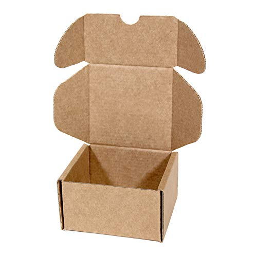 Kartox | Caja de Cartón Kraft Para Envío Postal | Caja de Cartón Automontable para Envío o Almacenaje | Talla S | 9x9x5.5 | 20 Unidades