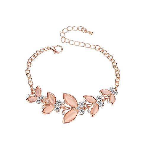 GanYu 1X Ladies Bracelet Flower Shape Simple Bracelet Accessories Love Gift Party Wedding Jewelry Accessories